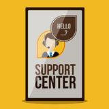 Support center design Stock Photography