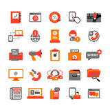 Support Center Icons Set Royalty Free Stock Image