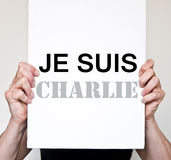 Support for  Charlie Hebdo magazine victim of  terrorism attack, on January 7th, 2015 in Paris Stock Images