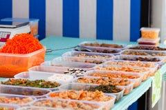 Support chineese de légumes du marché Image stock
