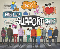Support Collaboration Assistance Aid Advice Help Concept Stock Photo