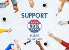 Support Collaboration Assistance Vote Election Concept Royalty Free Stock Image