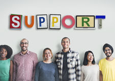 Support Collaboration Team Advice Help Aid Concept Royalty Free Stock Image