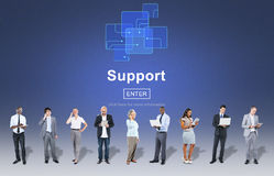 Support Community Aid Help Team Assistance Concept Royalty Free Stock Image