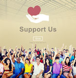 Support Community Cooperation Assistance Concept Royalty Free Stock Photo