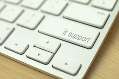 It support on the computer keyboard Royalty Free Stock Images