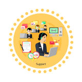 Support Concept Icon Flat Design Royalty Free Stock Photo