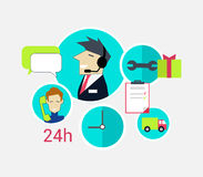Support Concept Icon Flat Design Royalty Free Stock Images
