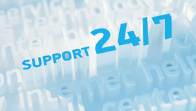 Support 24/7 Royalty Free Stock Image