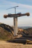 Support the concrete bridge Stock Images