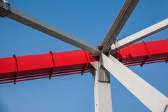 Support of curved steel girder of Chongqing Chaotianmen Yangtze River Bridge Stock Photo