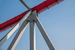Support of curved steel girder of Chongqing Chaotianmen Yangtze River Bridge Stock Photos