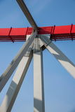 Support of curved steel girder of Chongqing Chaotianmen Yangtze River Bridge Stock Image
