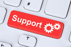 Support customer service help on the internet royalty free stock photography