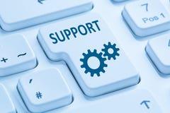 Free Support Customer Service Help Online Internet Blue Computer Keyb Stock Photos - 84725253