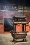 Support d'encens dans le temple chinois Photo stock