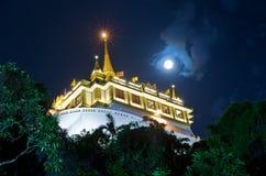 Support d'or et Wat Saket Photo libre de droits