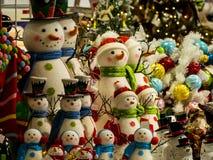 Support d'homme de neige à l'attention prête à décorer pour les vacances Photos libres de droits