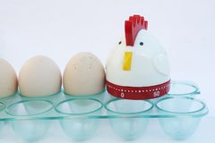 Support d'oeufs de réfrigérateur avec la décoration de poulet Support d'oeufs de réfrigérateur Photographie stock libre de droits