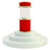 Support d'étalage sur le podium d'isolement Image stock