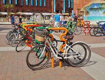 Support de bicyclette, la fabrication à Lodz Image stock