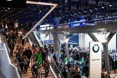 Support de BMW à l'IAA 2015 dans la canalisation de Francfort Photos libres de droits