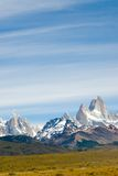 Support de Fitz Roy, stationnement national de visibilité directe Glaciares Photos libres de droits