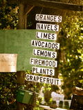 Support de fruit dans Ojai Photographie stock libre de droits