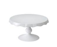 Support de gâteau de porcelaine sur le blanc illustration stock