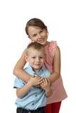 Support de garçon et de fille embrassé Images libres de droits