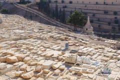 Support de Jérusalem de cimetière d'olives Images libres de droits