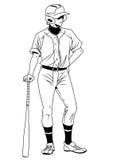 Support de joueur de baseball Photographie stock