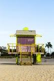 Support de maître nageurs à la plage du sud Photo stock