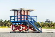 Support de maître nageurs à la plage du sud Images libres de droits