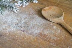 Support de nourriture de Noël et fond abstraits de cuisson Image libre de droits