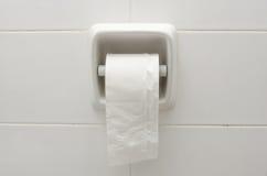 Support de papier hygiénique photo stock
