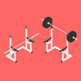 Support de posture accroupie de Barbell Photos libres de droits