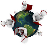 support de réseau global de propriétaire illustration de vecteur