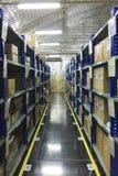 Support de stockage dans l'entrepôt Image libre de droits
