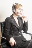 support de téléphone d'opérateur d'écouteur photographie stock libre de droits