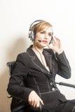 support de téléphone d'opérateur d'écouteur photographie stock