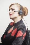 support de téléphone d'opérateur d'écouteur photo stock