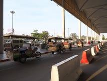 Support de taxi d'aéroport international de Phnom Penh Images libres de droits