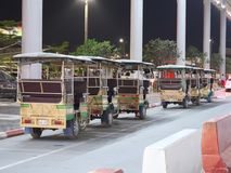 Support de taxi d'aéroport international de Phnom Penh Photo stock