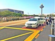 Support de taxi du terminal d'aéroport de Changi 2 Image libre de droits
