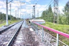 Support des trains électriques Photographie stock
