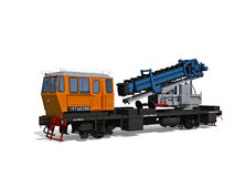 Support digger motor-rail car Royalty Free Stock Photography
