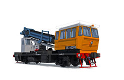 Support digger motor-rail car Stock Image