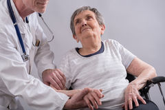 Support of the elderly stock photo