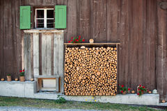 Support en bois Photographie stock